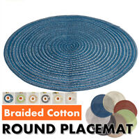 14In Round Woven Placemat Kitchen Dinner Table Place Mat Heat Insulation Pad