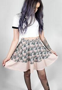 Fearless Illustration   'Oh Deer' Skater Skirt   Beige/ Fawn   Sizes S - XL