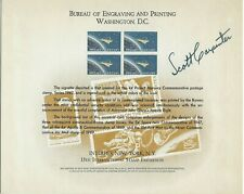 ASTRONAUT SCOTT CARPENTER  AUTO ON BUREAU OF ENGRAVING CARD  PROJECT MERCURY