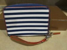 Stella and Dot Blue and White Stripe Wallet