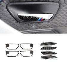 3D Carbon Fiber Interior Door Handle Bowl Cover Trim for BMW 3 4 Series F30 F36