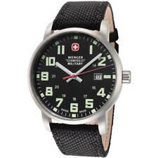 Wenger Men's Watch Avenue Sport Swiss Quartz Black Dial Nylon Strap 01.9041.220S