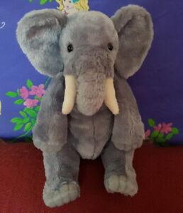 **Beautifully detailed plush sitting ELEPHANT** by Bocchetta