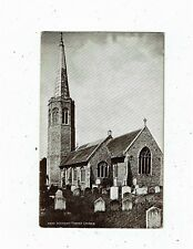 POST CARD REAL PHOTO 2693 WICKHAM MARKET CHURCH