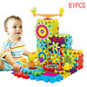 81Pcs Plastic Electric Gears 3D Building Kits Educational Toy Kids Children AU