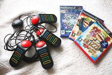 Lot of 3 BUZZ GAMES for PLAY STATION, BUZZERS Included! PAL (BIG QUIZ, MUSIC...)