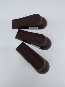"""(lot of 3)-Rubber Door Wedge Stopper 5"""" Anti-Skid Base Brown Free Shipping"""