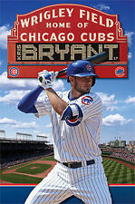 Kris Bryant WRIGLEY SUPERSTAR Chicago Cubs MLB Baseball Action Wall POSTER