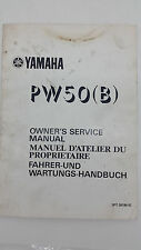 Yamaha Motorbike PW50(B) Factory Owners Service Manual. 1st ed., August 1990