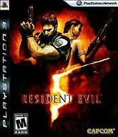 RESIDENT EVIL 5 V SONY PLAYSTATION 3 PS3 GAME COMPLETE W/ MANUAL