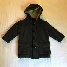 BABY GAP Gray Wool Blend Winter Coat Toddler Youth Size 4 years (J10)