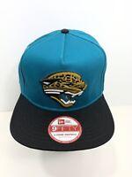 New Era NFL 9FIFTY Black & Teal Jacksonville Jaguars SnapBack Flat Bill, NEW!