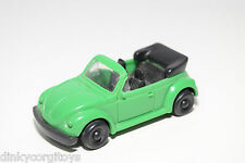 PLASTIC VW VOLKSWAGEN BEETLE KAFER CABRIOLET GREEN NEAR MINT CONDITION
