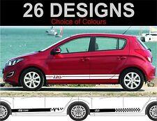 Hyundai i20 Seitenstreifen Aufkleber Sticker beidseitig