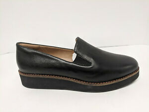 Softwalk Whistle Slip-On Loafers, Black, Womens 8.5 Wide