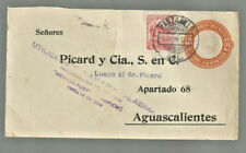 1928 Mexico cover Ffc Tuxpan to Tampico (Manzanillo to Aguascalientes cancels)
