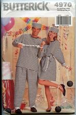 Black & White Striped Prisoners Uniforms   His & Hers  Simplicity Sewing Pattern