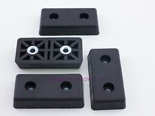 Set of 4 - Rectangular Rubber Feet .590