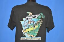 vintage 90s Kapu Hawaiian Warrior Skateboard Skate Jungle Black t-shirt Large L