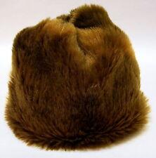 Cute Vintage Faux Fur Lined Hat c.1950s