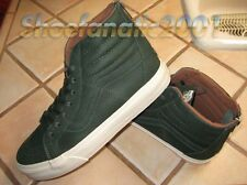 Vans Sample SK8 Hi Reissue Zip Leather Duffel Bag Green Skateboarding Zipper