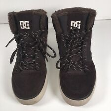DC Shoes Spartan WC WNT High Top Urban Trainers 8 UK Skateboard Brown suede