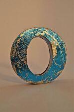 FANTASTIC RETRO VINTAGE STYLE BLUE 3D METAL SHOP SIGN LETTER O ADVERTISING FONT