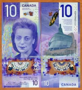 Bank of Canada, $10, 2018, Polymer, P-113, UNC > Viola Desmond, New Design