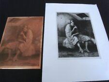 """PLAQUE CUIVRE GRAVÉE """"L'ENFER""""- JEAN AUSCHER (1880-1950) +TIRAGE PAPIER -PLC 134"""
