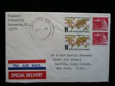 Sc #1271 Telecommunication Stamp Pair US 8c Airmail Special Delivery1966 Cover