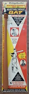 Vintage 1960's Mickey Mantle Adjustable Weight Bat w/Original Backer HOF Yankees