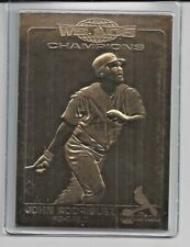 John Rodriguez 2007 Danbury Mint Cardinal World Series Sealed 22 Kt Gold Card