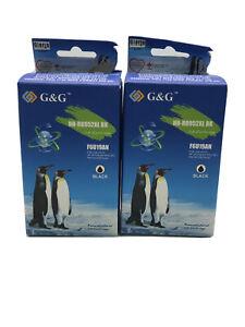 2 G & G Ink Cartridge NH-R00902XL BK High Yield Black New Sealed v5