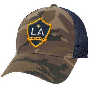 LA Galaxy MLS Adidas Unisex Camo/Navy Structured Adjustable Cap