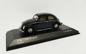 MINICHAMPS 1:43 VW 1200 Export Schwarz 1951 Noir 1 Des 3024 Pcs 400051200 Neuf