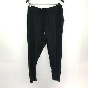 Lee Mathews Womens Pants Black Jogger Elastic Waist Tencel Lounge Size 3 / 12