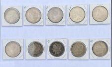 90% silver -U.S coins-Morgan Dollars- Peace Dollar-Lot of 10