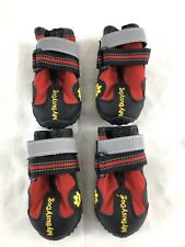 New listing New My Busy Dog Waterproof Dog Shoes Boots Red Black Size 2