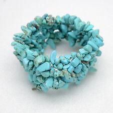 Chico's women jewelry elegant unique turquoise stretch bangle beaded bracelet