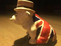 Royal Doulton Bulldog Union Jack Original in British flag. James Bond 007.
