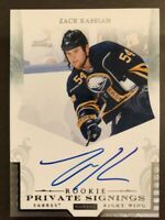 2011-12 Panini Rookie Private Signings Autograph Zack Kassian Auto #R-ZK1