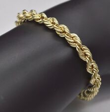 10K  Lady's & Men's Real Yellow Gold Rope Bracelet 6mm 8.5 Inches Long #AB40
