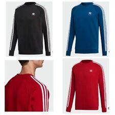 Adidas Men's Originals 3 Stripes Crew Neck Embroidery Logo Sweatshirt
