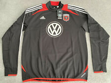ADIDAS DC UNITED MLS TRAINING SWEAT TOP PLAYER ISSUED MENS LARGE