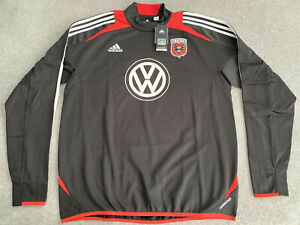 DC UNITED ADIDAS MLS TRAINING SWEAT TOP PLAYER ISSUED MENS LARGE
