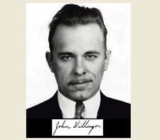 John Dillinger Signed PHOTO Bank Robber,Great Depression Gangster Autograph Repr
