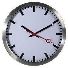 Klassische Bahnhofsuhr Uhr Wanduhr Modern &Schlicht Retro Schleichsekunde Ø35cm