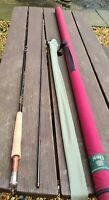 A SUPERB ORVIS TRIDENT 906 TROUT FLY ROD 9FT 2 PIECE #6 LINES IN TUBE & BAG