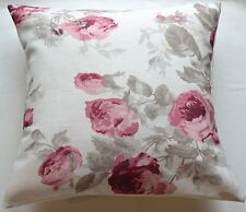"16"" Laura Ashley 'Roses Cassis' Floral cushion cover"