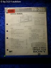 Sony Service Manual FH 203 Compact Component System (#3386)
